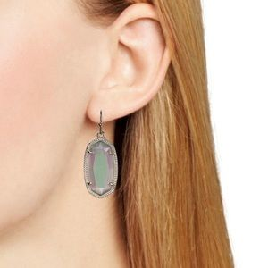IRIDESCENT SLATE SILVER DANI EARRINGS